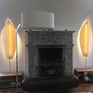 stehlampen blatt